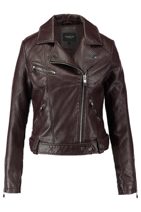 Leather look jas Jfriday