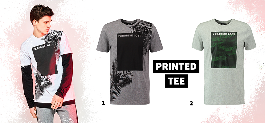 festival printed tee trend for him