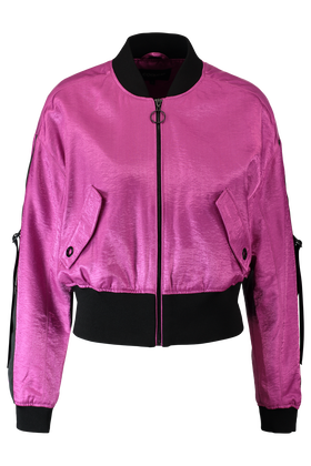 Bomber jas met shiny finish