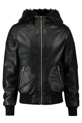 Leather look jas Kronic