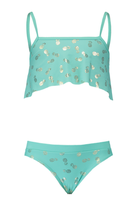 Bikini met all over ananas print