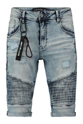 Denim biker short Mike