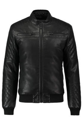 Leather look jas Kevin