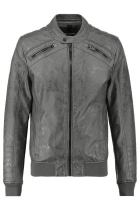 Leather look jas Kona
