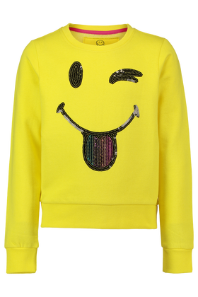 Smiley sweater met pailletten