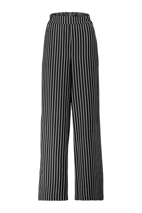 High waist flared broek
