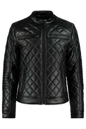 Leather look jas Krosspu