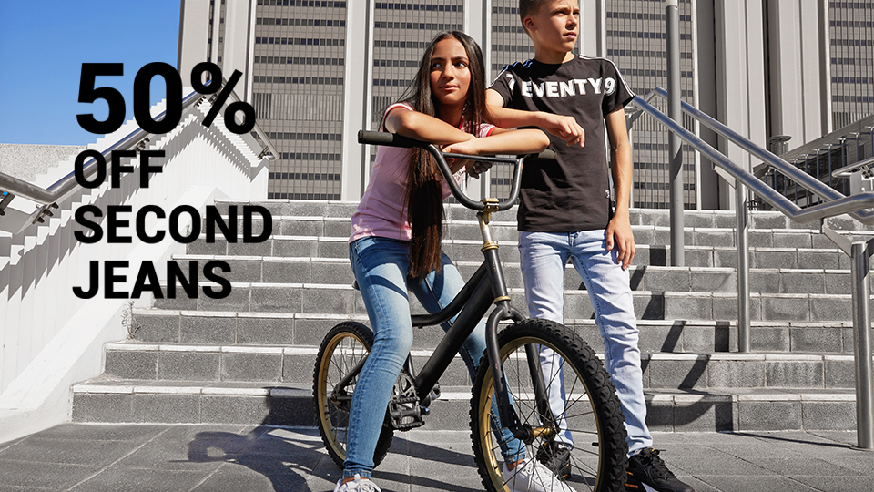 50% off second jeans